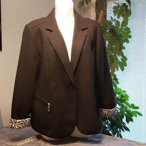 Black knit ladies jacket
